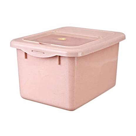 Battletter Thickening Moistureproof Rice Storage Container Flour Barrel with Cover (pink)  sc 1 st  Amazon.com & Amazon.com: Battletter Thickening Moistureproof Rice Storage ...