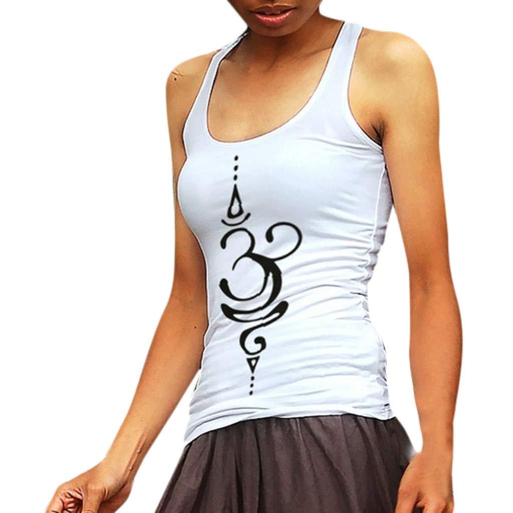 TOPSELD Womens Tops Womens Fashion Tattoo Symbol Shirt Zen Mandala Tank Top