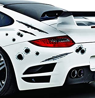 Amazoncom Bullet Holes Stickers Decals Car D Fade Funny - Stickers and decals for cars