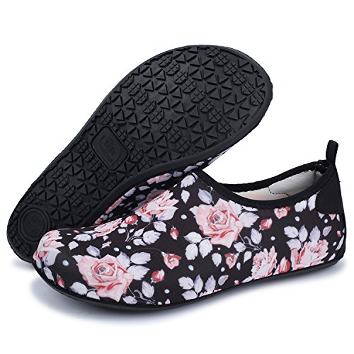 Agua descalza Run Zapatos Dive Piel de de L Swim Run Zapatos Unisex para Surf Yoga Flor Beach UB8At