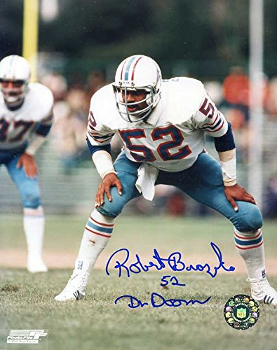 7eae49dc Robert Brazile Autographed/Original Signed 8x10 Photo Showing Him in Action  with the Houston Oilers