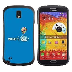Suave TPU GEL Carcasa Funda Silicona Blando Estuche Caso de protección (para) Samsung Note 3 / CECELL Phone case / / Quote Up Text Cartoon Balloon /