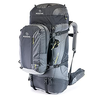 Roamm Nomad 65 +15 Backpack - 80L Liter Internal Frame Pack with Detachable Daypack - Best Bag for Camping, Hiking, Backpacking, and Travel - Men and Women by Roamm Outdoors