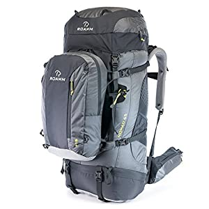 Roamm Nomad 65 +15 Backpack - 80L Liter Internal Frame Pack With Detachable Daypack - Best Bag for Camping, Hiking, Backpacking, and Travel - Men and Women