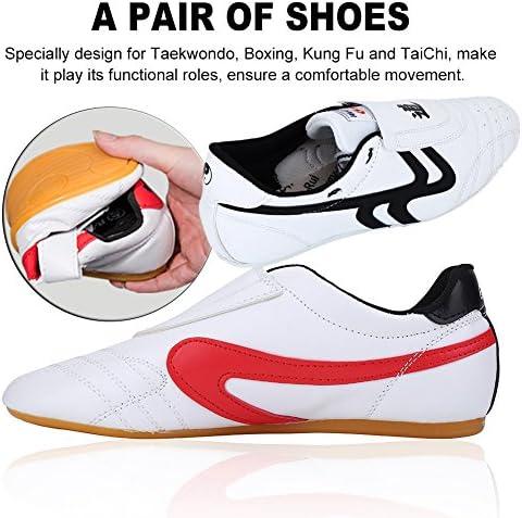 Children Men PU Taekwondo Shoes Martial Art Chinese Kung Fu White Soft Cosy Kids