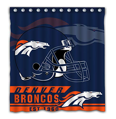 Toilet Phillips Environmental (Felikey Custom Denver Broncos Waterproof Mildew Proof Shower Curtain with Color Bathroom Decoration Size of 66x72 Inches)