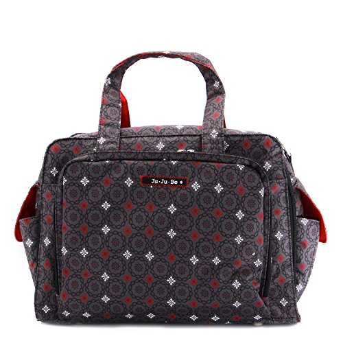 JuJuBe Be Prepared Travel Carry-on/Diaper Bag, Classic Collection - Magic Merlot