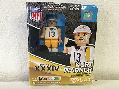 Kurt Warner Nfl Oyo St  Lous Rams S B  Xxxiv L E  Of 2 015 Generation 3 Super Bowl 50 Series G3 Mini Figure
