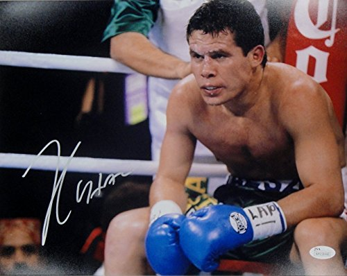 Julio Cesar Chavez Sr Signed Autographed 16x20 Photo Sitting in Ring Right JSA ()