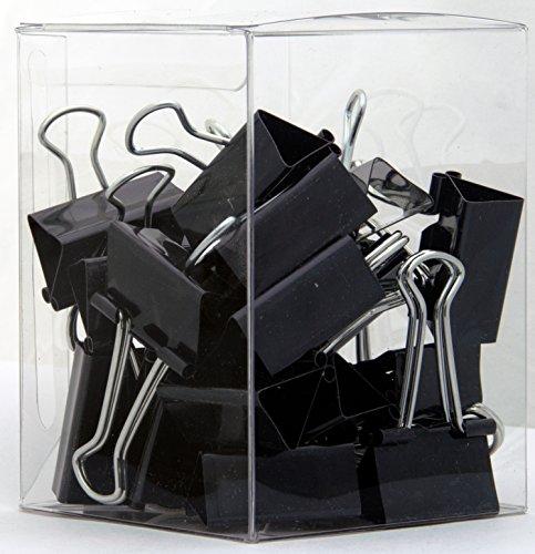 TRUSTY Medium Binder Clips, 1-1/4-inches x 5/8-inches, 24/Box