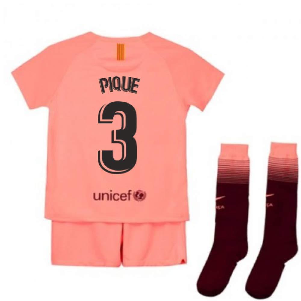 UKSoccershop 2018-2019 Barcelona Third Nike Little Boys Mini Kit (Gerard Pique 3)
