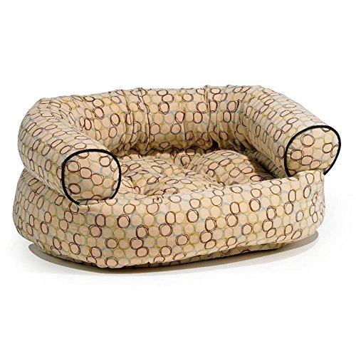 Microvelvet Double Donut Bed - Bowsers Double-Donut Dog Bed Oval XL Microvelvet Milano 48