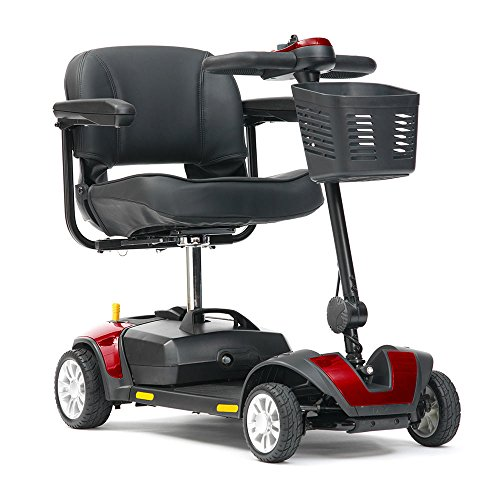 Livewell Jaunt 4mph Portable Travel Car Boot Mobility Scooter (Red)