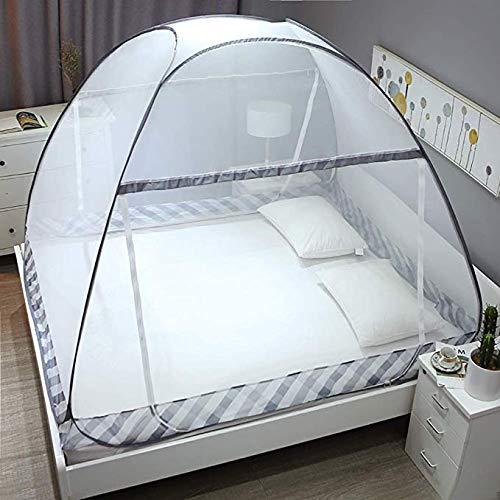 150x200cm MMMMM Pop up Tents Camping Tente 4 à 6 Personnes Sky-Window Tente de Camping Instant 14 piquets en Acier renforcé et Transport,1,135x200cm