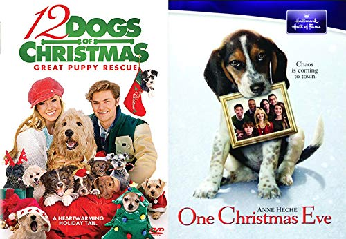 Tails of Christmas... The Dogs (2 Feature Film DVD Bundle): 12 Dogs of Christmas- The Great Puppy Rescue + One Christmas Eve Hallmark Magical Night puppy holiday! Movie Pack (Santa Buddies The Search For Santa Paws)