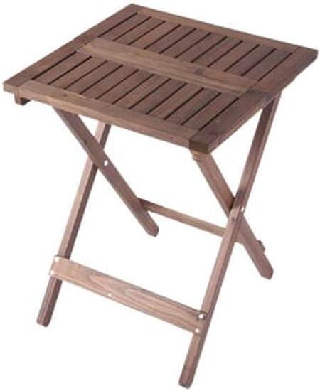 XGHW Petite Table Basse en Bois Pliant et léger côté carré ...