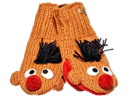 Knitwits Little Kids' Ernie Knit Wool Mittens