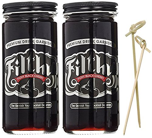 Filthy Black Cherry 2-Pack - Naturally Dark Cherry with a Sweet Front and Tart Finish. 8oz Jars