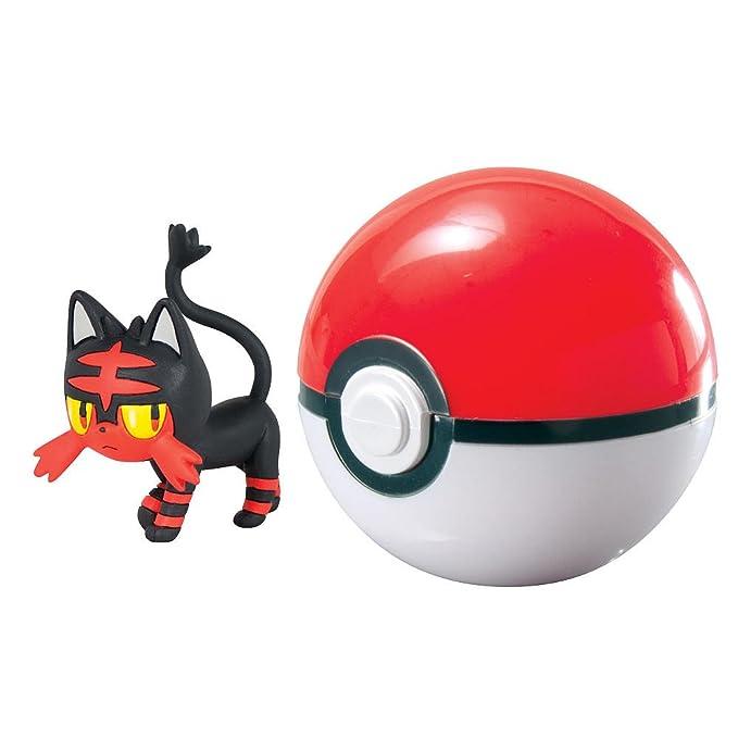 Pokemon FLAMIAOU Litten avec POKE BALL Clip 'n' Carry SET Figura avec la Pokeball