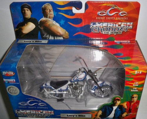 rs American Chopper Lucy's Bike 1:18 Scale Die Cast by Joy Ride (Ertl Orange County Choppers)