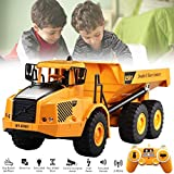 rc Trucks Toy Car Model - Remote Control Articulated Dump Large Truck Transportation Model Car Engineering Large Truck Tipping Bucket Car
