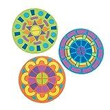 Beautiful Mandala Mosaic Kit - Foam - Great For Teachers, Home Decor, 12 Kits