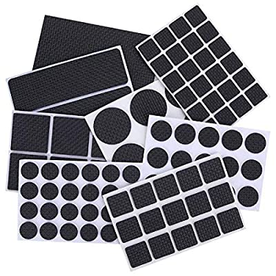 Skedee 186 Pieces Non Slip Furniture Pads-Heavy Duty Adhesive Rubber Furniture Pads -Best Chair Leg Covers Assorted Sizes Protect Your Hardwood & Laminate Flooring