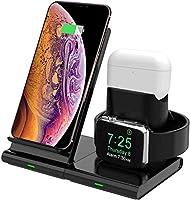 Hoidokly 3 in 1 Wireless Charger Qi Kabellose Ladestation Abnehmbare und Magnetische Schnellladegerätn für iWatch Series...