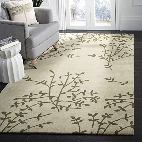 Safavieh Soho Collection SOH733A Handmade Green and Multi Premium Wool Square Area Rug 6 Square