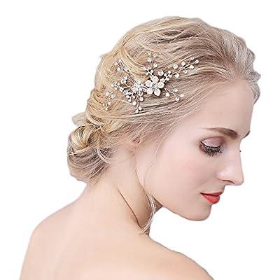 M Bridal Women's Crystal Wedding Hair Comb Bridal Prom Hairpins Hair Accessory O906