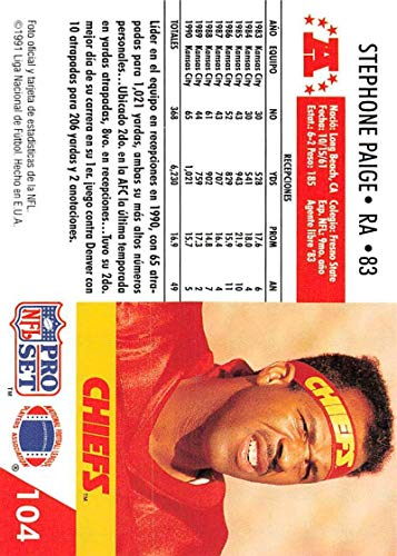 Amazon.com: 1991 Pro Set Spanish Football #104 Stephone ...