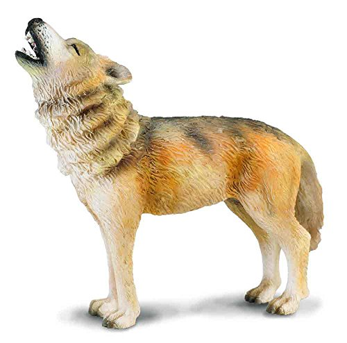 CollectA Woodlands Timber Wolf (Howling) Toy Figure - Authentic Hand Painted (Howling Wolf Wolf)