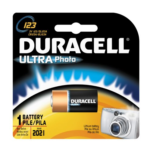 Duracell DL123ABPK Ultra Photo Lithium/Manganese Dioxide Battery, 123 Size, 3V (Case of ()