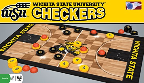 MasterPieces NCAA Wichita State Shockers Basketball Checkers Board Game - College Basketball Board Game