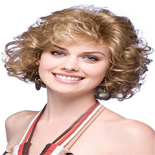 Women's Wig Fashionable Women Wigs Short Curly Wavy Full Hair Wigs Brown For Costume Party Halloween