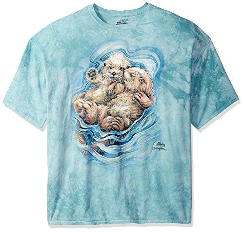 The Mountain A Love Like No Otter Adult T-Shirt, Green, Medium (Free Valentine Ca)