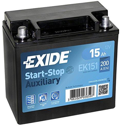 Exide Ek151 Agm Car Battery 15 Ah: