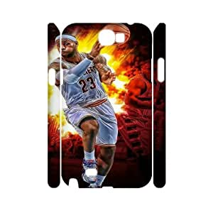 LeBron James HILDA0114594 3D Art Print Design Phone Back Case Customized Hard Shell Protection Samsung Galaxy Note 2 N7100