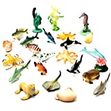 small plastic fish - Fun Central AU194 1 to 2.25 inch Underwater Sea Animals,Deep Sea Creatures, Animal Figures, Sea Animal Toys, Rubber Sea Creatures, Bathtub Toys, Educational Toys for Kids-Assorted Styles, 90 Count