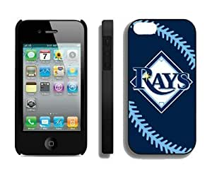 Cheap Apple Iphone 4s Case MLB Tampa Bay Rays Personalized Iphone 4 Cellphone Proective Cover by ruishername