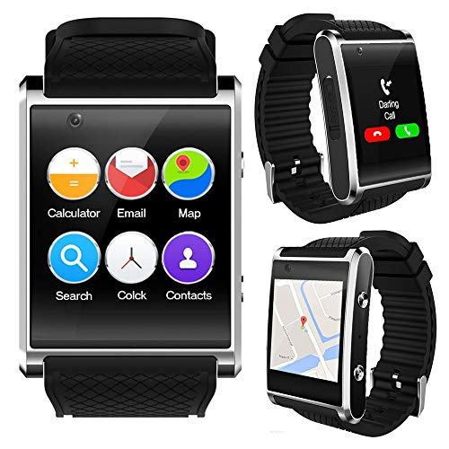 Indigi Exclusive 3G Unlocked Android 5.1 OS Smart Watch Phone (3G+WiFi) GPS(Maps) + Heart Rate Sensor + Bluetooth 4.0