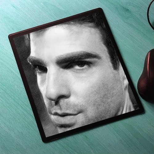 ZACHARY QUINTO - Original Art Mouse Mat (Signed by the Artist) #js001