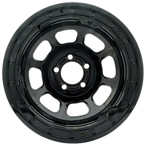 Bassett Wheel D Hole Lightweight Beadlock Black Powder Coat   15 X 10 Inch Wheel