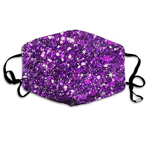 Life Pstore Fashion Earloop Face Mask, Glitter Sparkles Shimmer Purple, Dental Surgical Flu Mask Germ Dust Protection Filter Face Masks for Men Women]()