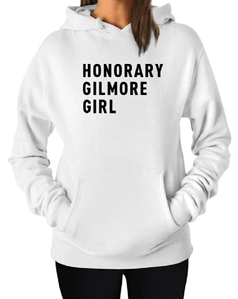 Calvary Letter Print Sweatshirts Honorary Gilmore Girl Fashion with Pocket Solid Women Hoodie Pullover Top Casual Hood