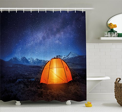 Curtain Ambesonne Exploring Universe Bathroom