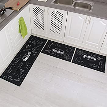 Amazon Com Carvapet 3 Piece Non Slip Kitchen Mat Rubber