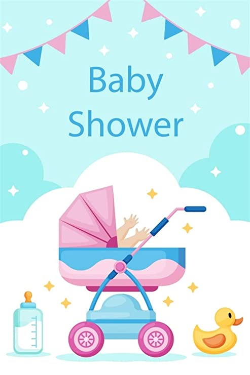 YongFoto 2x3m Fondo de Fotografia Telón de Fondo de Baby Shower Foto de niña Carrito de bebé ...