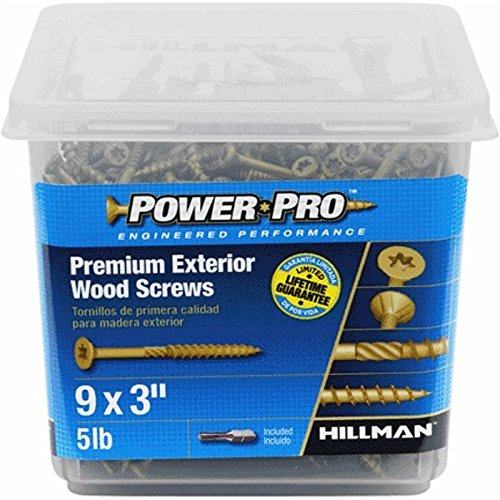 The Hillman Group 48611 Power Pro Exterior All Purpose Screw, 9 x 3 (2)