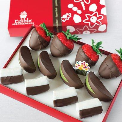 Edible Arrangements Chocolate Dipped Strawberries, Apples & Bananas Box
